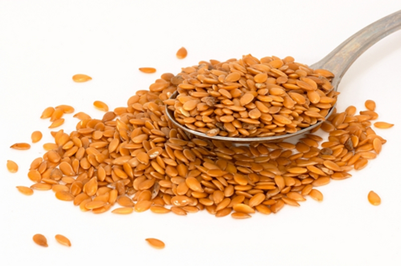 Flaxseed is a great source of fatty acids.